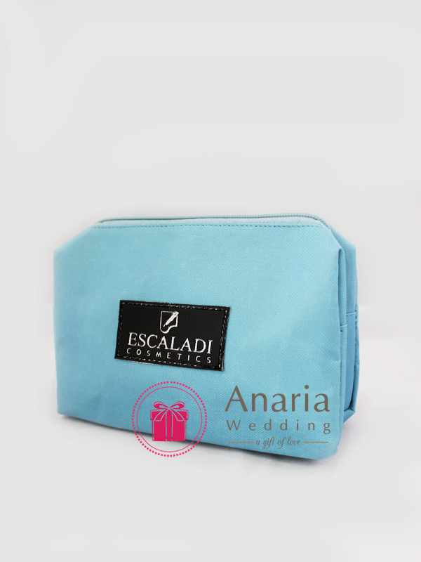 Souvenir Promosi Cosmetics Pouch Light Blue