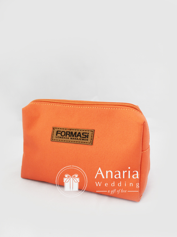 Souvenir Promosi CCI Cosmetics Pouch Light Orange