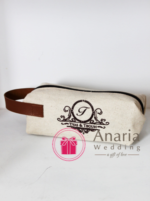 Souvenir Tube Canvas Pouch