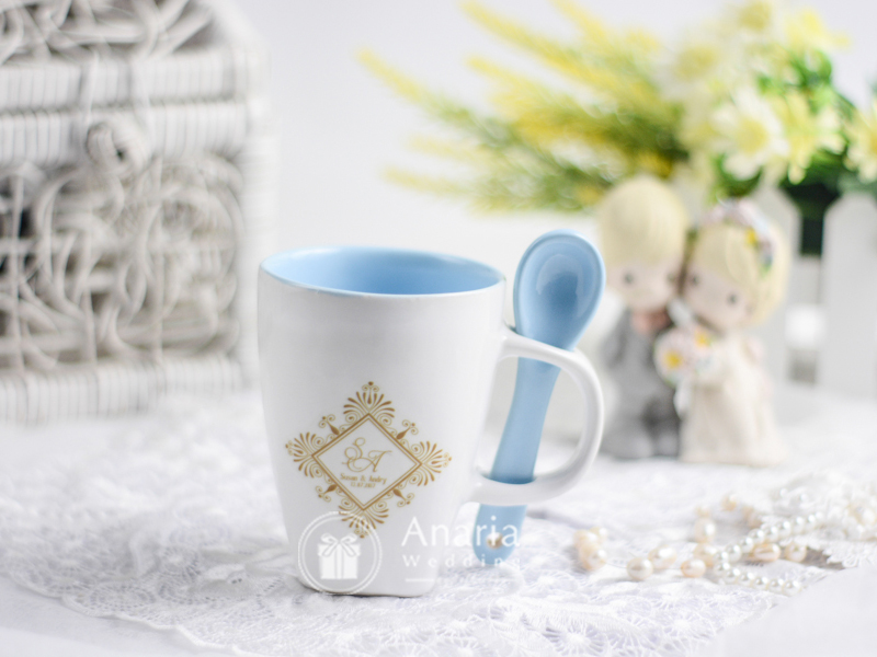 Souvenir Wedding Mug & Spoon