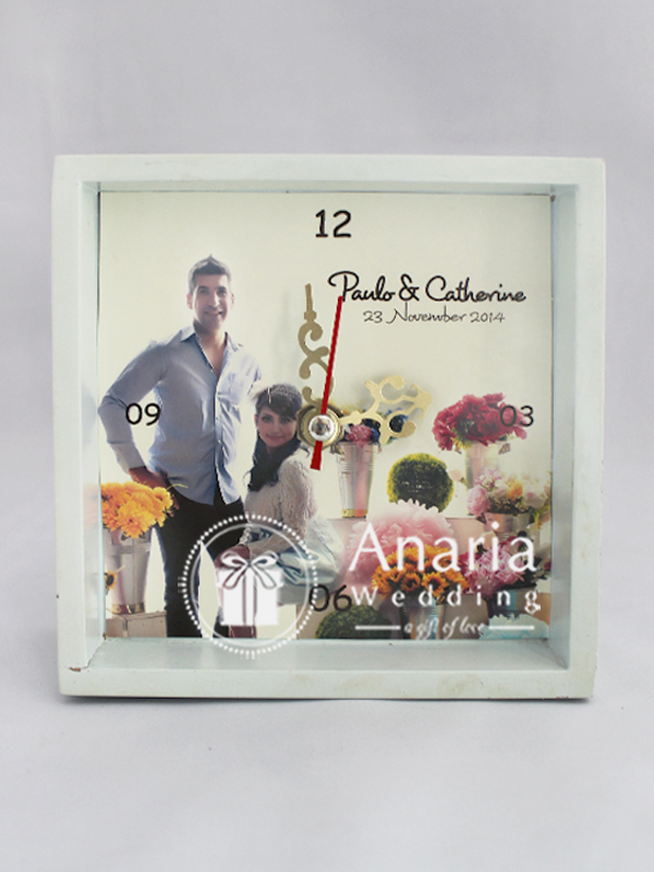 Souvenir Table Clock AP Square