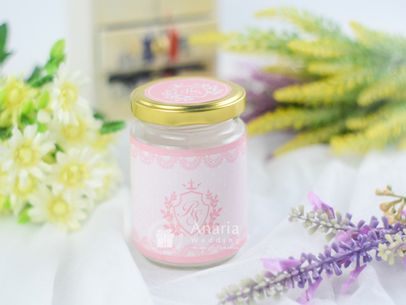 Souvenir Wedding Candy Jarr Pink