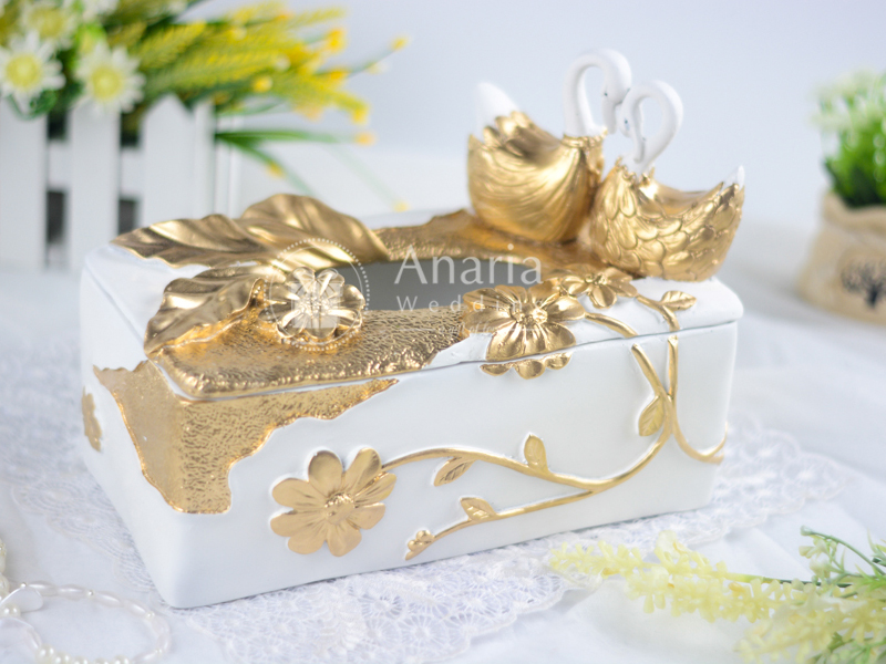 Sold Swans Tissue Box Wedding
