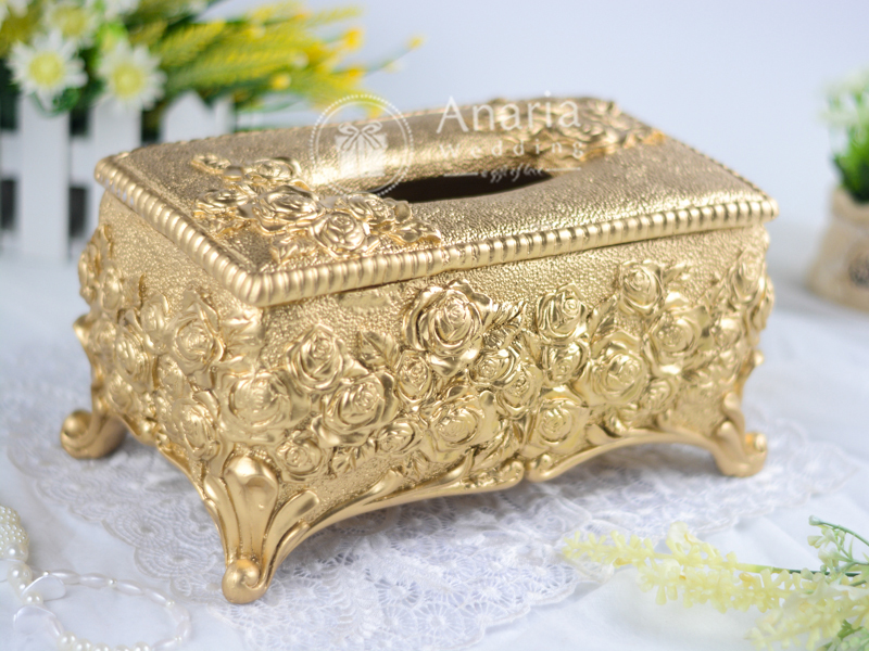 Golden Rose Tissue Box Exclusive