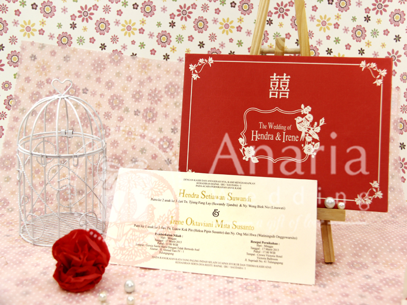 Custom Wedding Card Hendra Dan Irene