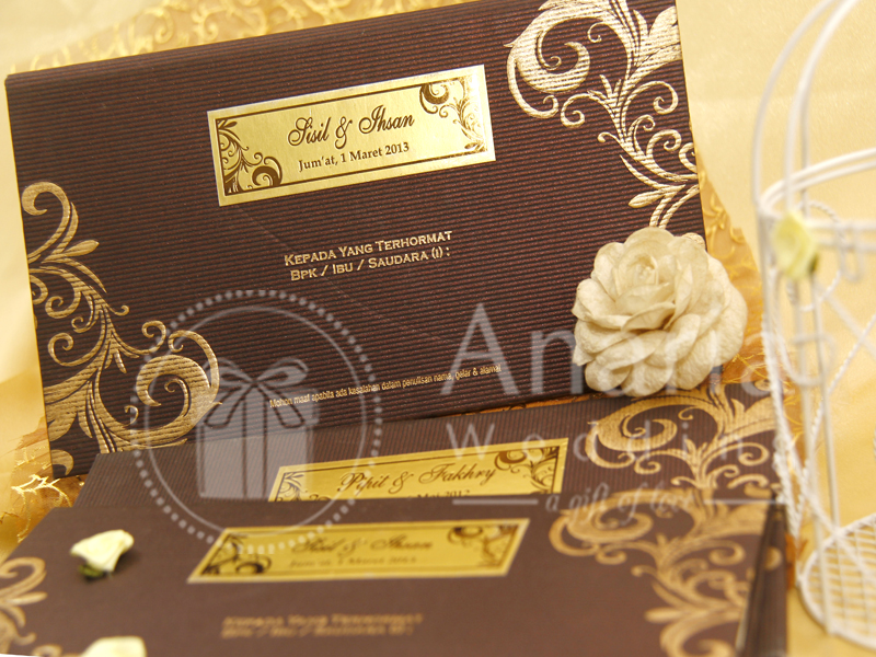 Wedding Card Invitation Sisil-Ihsan