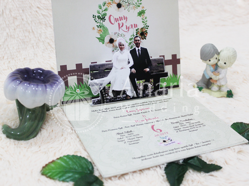 Wedding Card Undangan Pop Up Onny-Ryan