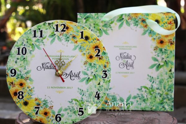 Souvenir Wedding Unik Wire Tissue Fiber Souvenir Exclusive Custom Vintage Clock